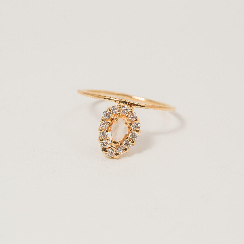 Blossomus moonstone u diamond burst ring moonstones and products