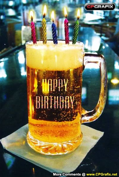 Happy Birthday Beer Candle Cakepins Com Party Fun