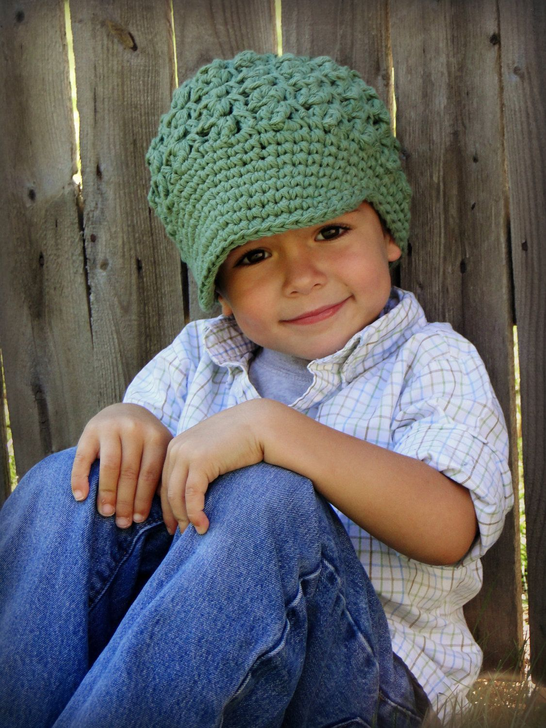 Crochet Boys Hat, kids hat, baby hat, girls hat, crochet newsboy hat ...