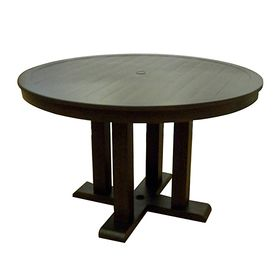 Allen Roth Dellinger 48 In X 48 In Aluminum Round Patio Dining Table