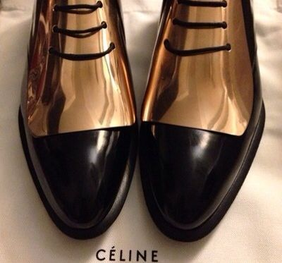 Celine plated gold shoes