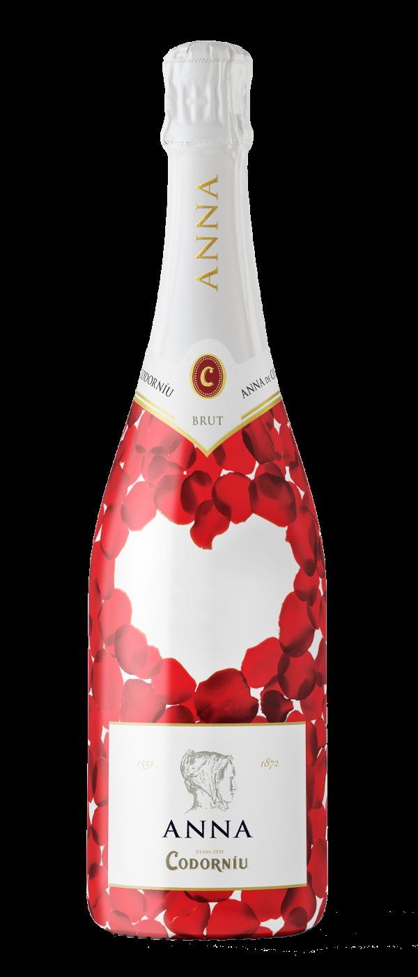 Cava Anna de Codorníu - botella 'amor' personalizable. Amigos de las bodegas. #taninotanino