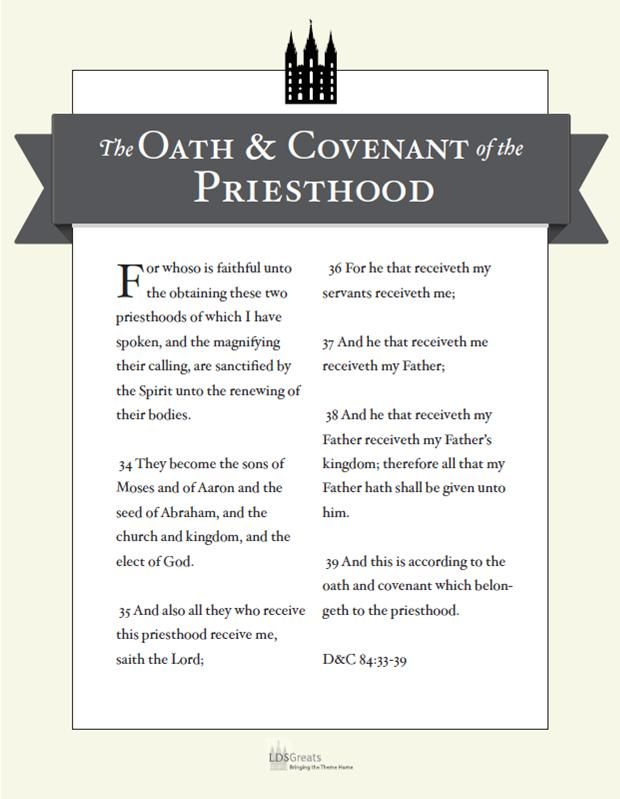 picture about Oath and Covenant of the Priesthood Printable called Pin upon Church