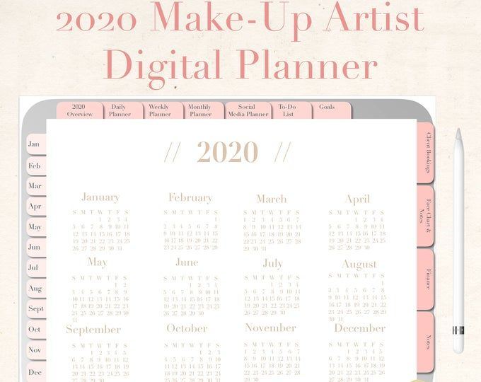 Floral Makeup Artist Business Planner Bundle, Freelance Makeup Artist Forms, Wedding Makeup Artist Contact, Digital Download