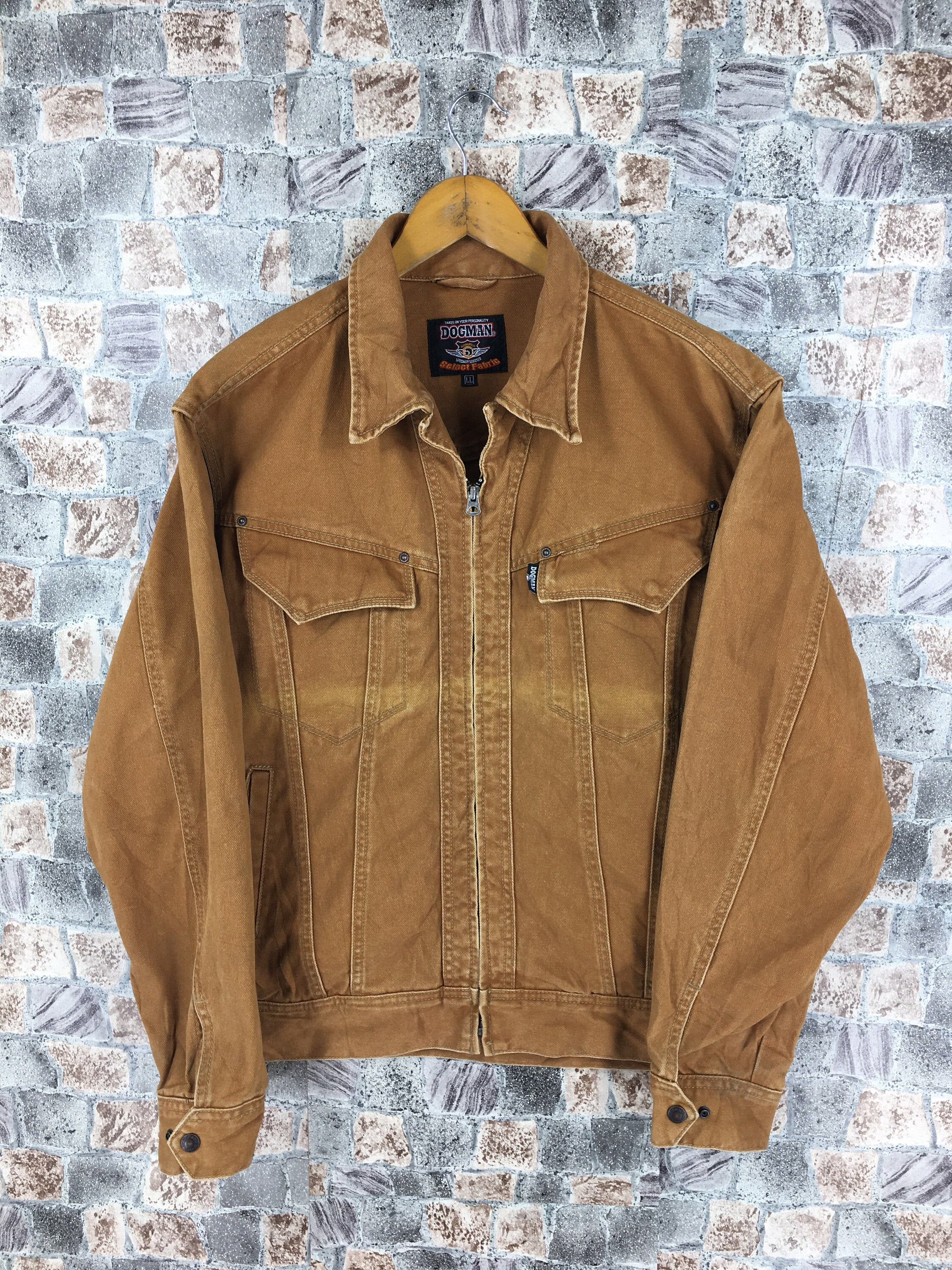 Excited To Share This Item From My Etsy Shop Vintage Dogman Denim Workers Jeans Jacket Medium Brown French In 2020 Denim Jacket Women Vintage Denim Jacket Denim Coat