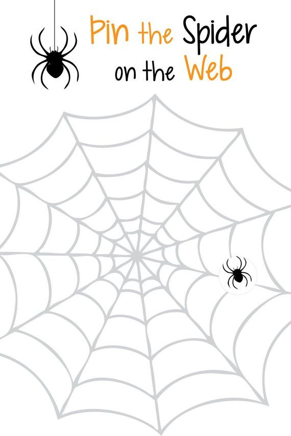 Pin the Spider on the Web Poster- Pin the Spider Poster