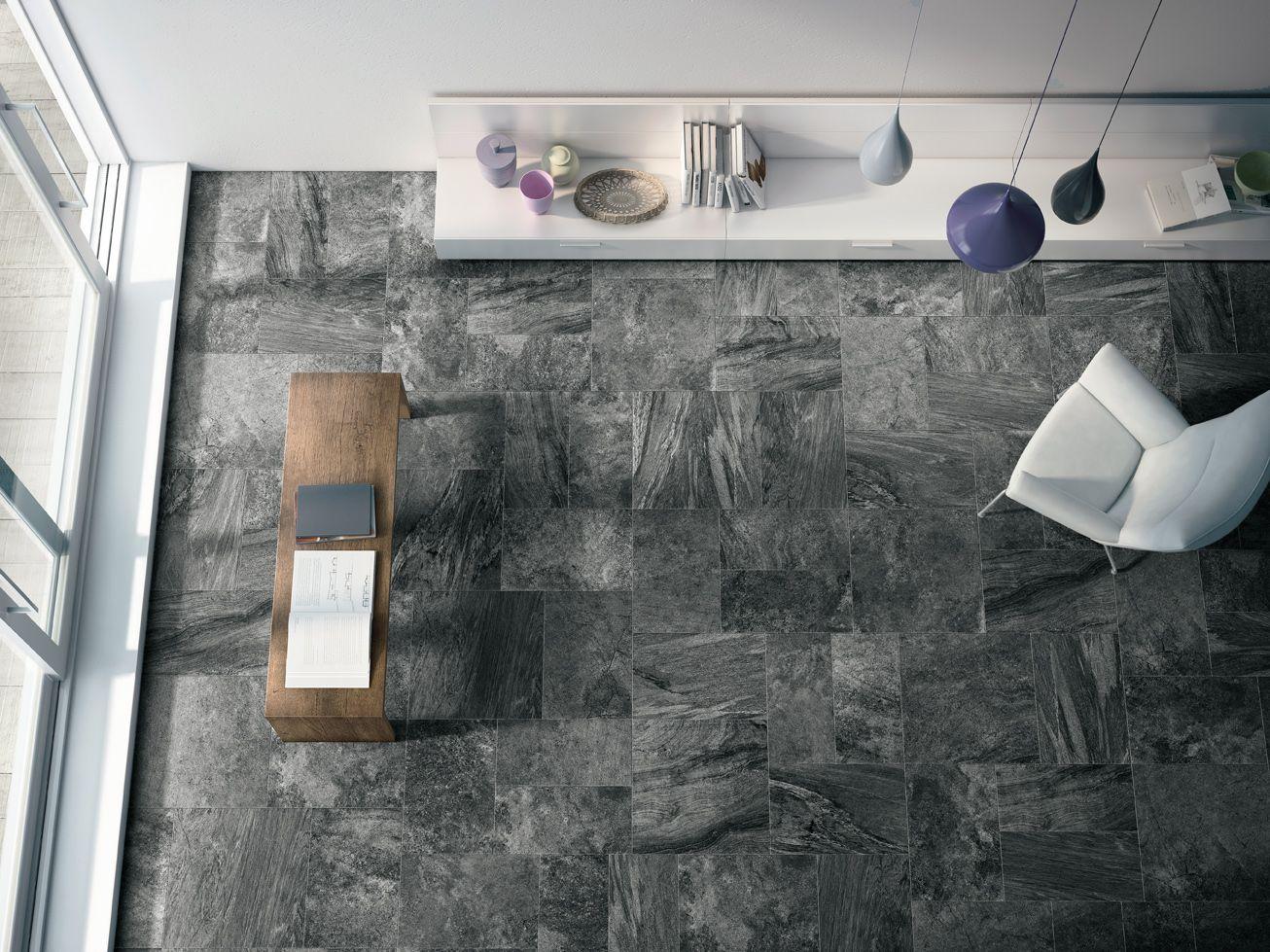 Cooperative Earth Stone Black Amazing Italian Porcelain