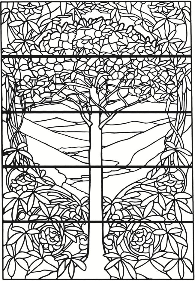 Welcome To Dover Publications Creative Haven Tiffany Designs Stained Glass Coloring Book