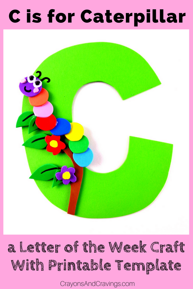 This letter C craft with printable template is part of our