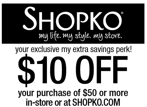 picture about Shopko Printable Coupons identify SHOPKO $$ Reminder: Coupon for $10/$50 Order Expires