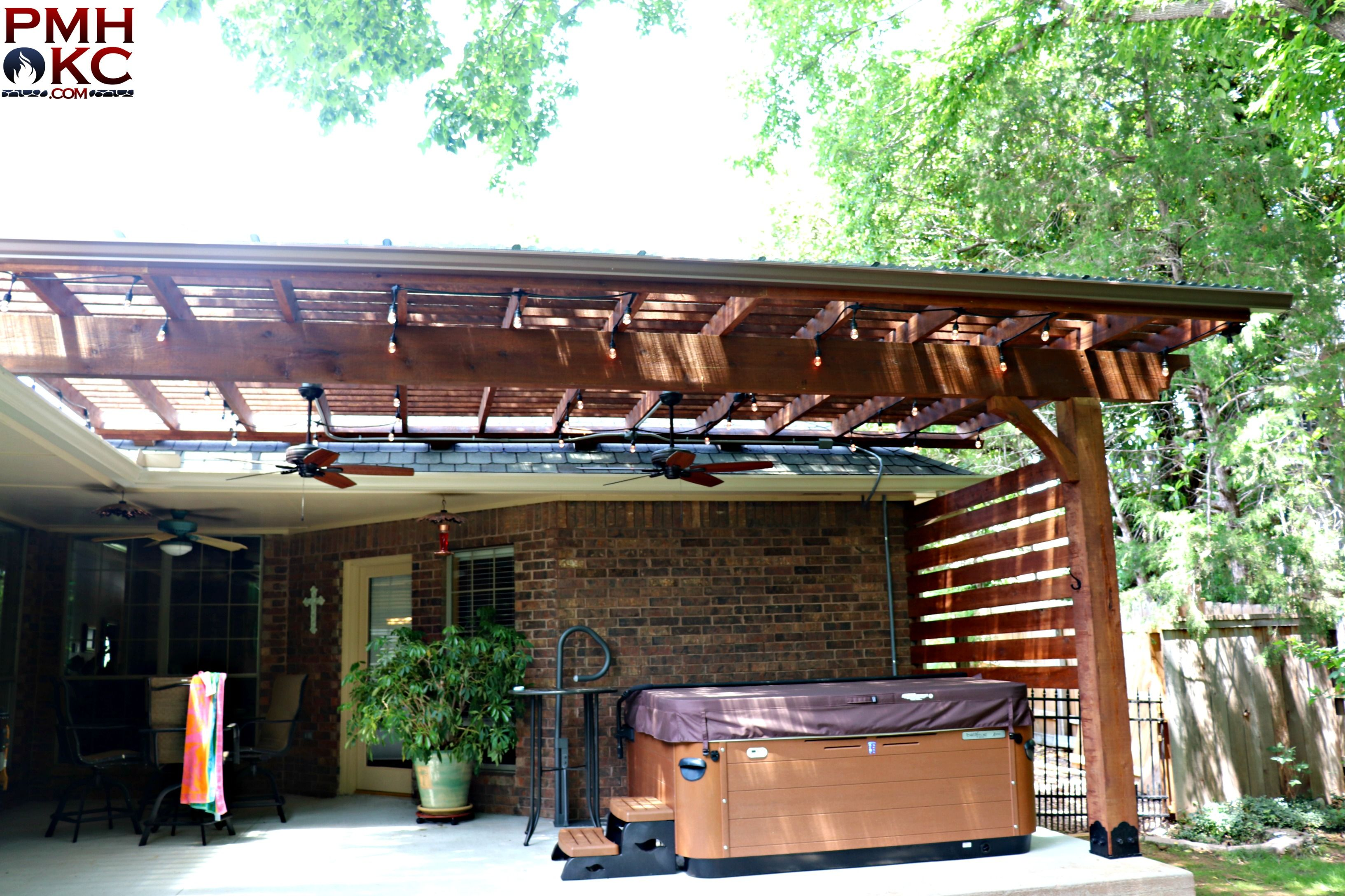 Half Pergola With Clear Polycarbonate Outdoor Pergola Pergola Shade Cover House Front