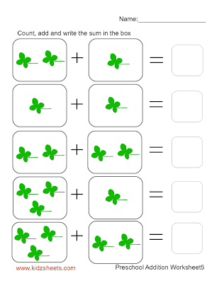 Preschool Addition (Sheet5) | Preschool | Pinterest | Kids math ...