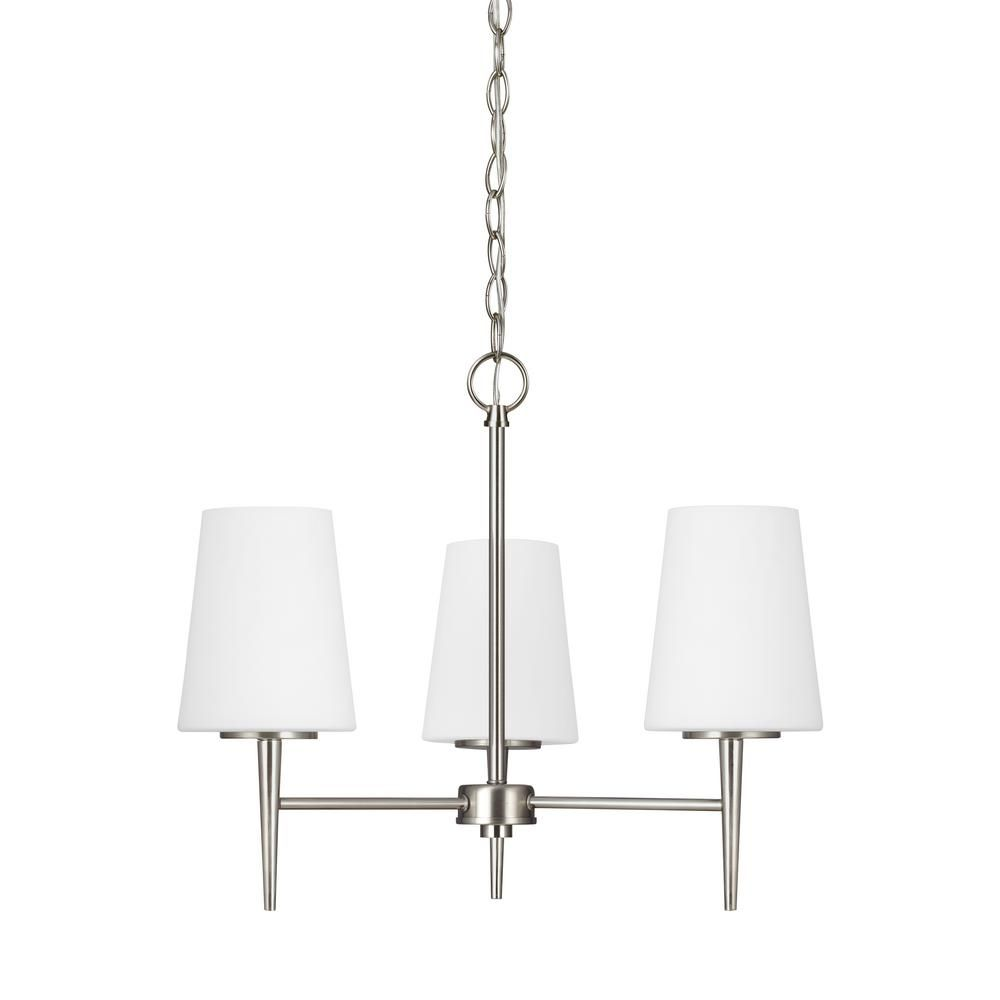 Sea Gull Lighting Driscoll 3-Light Brushed Nickel Chandelier