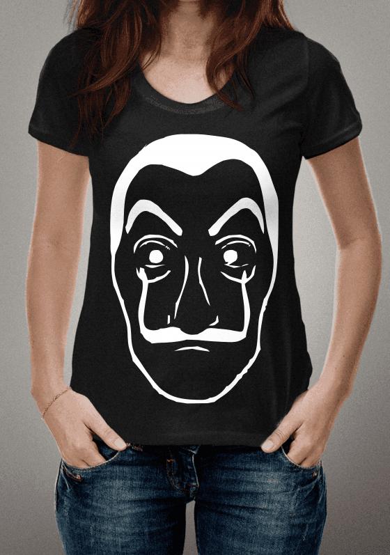 Camiseta La Casa De Papel. A famosa mascara de Dali  881c653699f3c