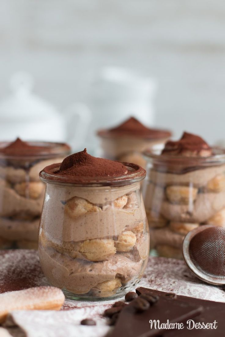 Dekadenter Schokoladen-Tiramisu im Glas   - The sweet things in life -
