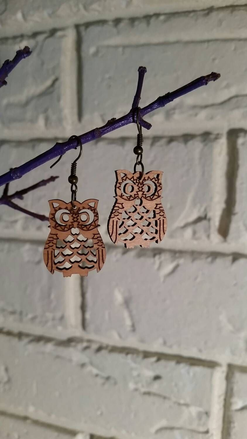 Owl earrings - Mama owl
