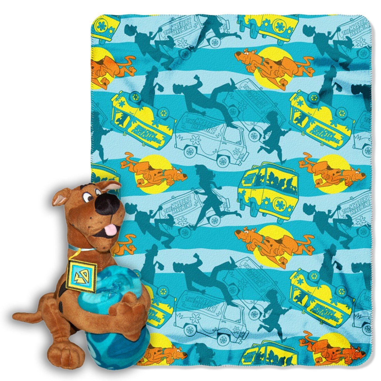 Scooby Doo Bedroom Accessories Scooby Doo Blanket With Pillow Plush Bedroom Theme Pinterest
