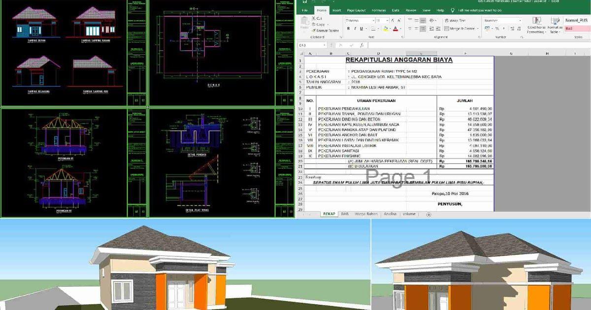 Rumah Minimalis 3 Kamar Tidur Dwg Autocad Lengkap Dengan 106 Denah Rumah Minimalis Pdf Gambar Desain Ruma Rumah Minimalis Desain Rumah Minimalis Desain Rumah