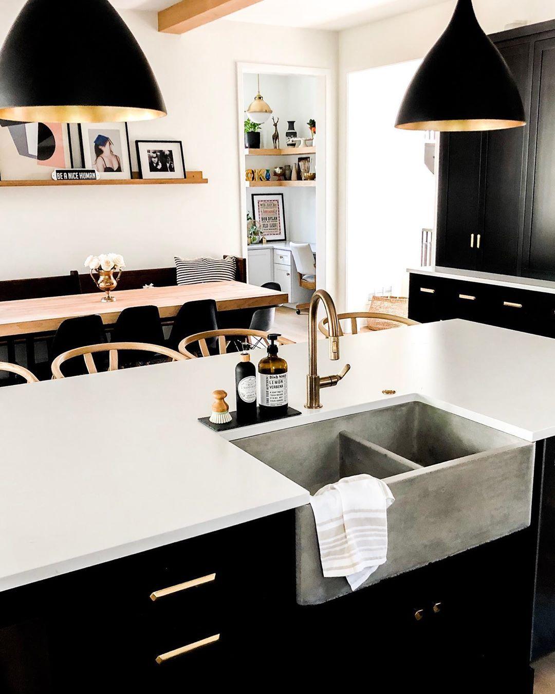 Neutral Kitchen, Cement Sink.