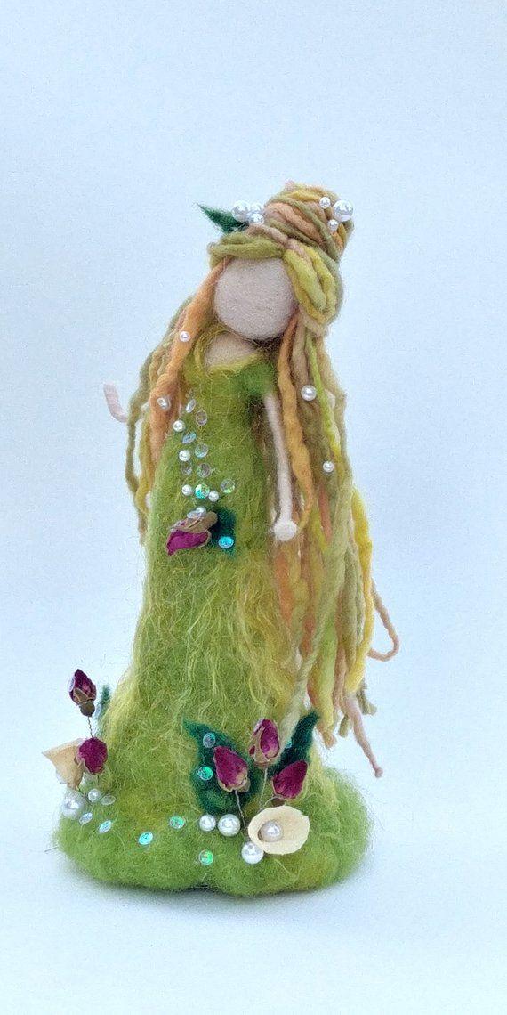 Art doll Needle felted Fantasy Fairy Waldorf inspired doll | Etsy