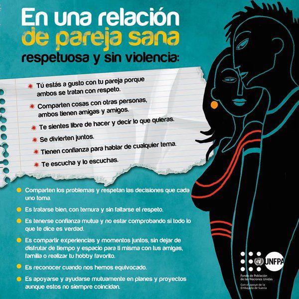 En Una Relacion De Pareja Sana Respetuosa Y Sin Violencia