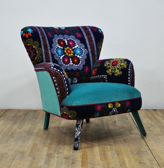 Suzani Armchair Turquoise Love I N T E R I O R In