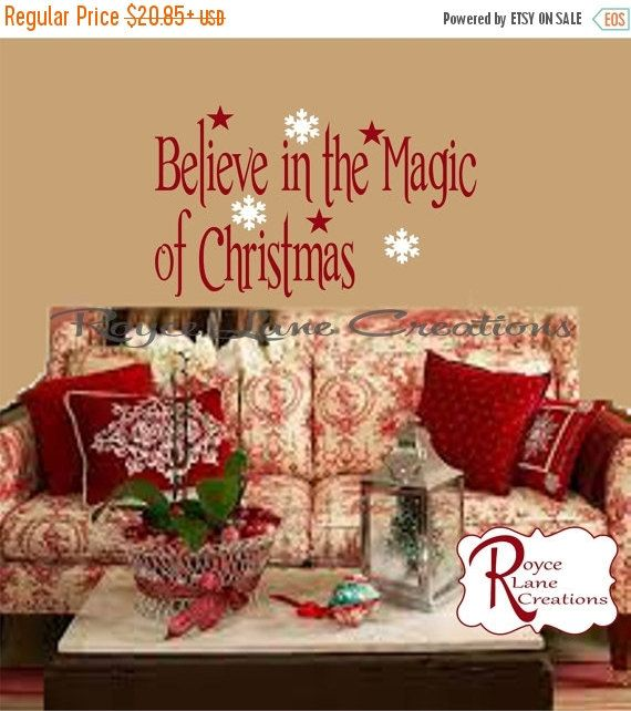 VACATION SALE Christmas Decal Believe in the por RoyceLaneCreations