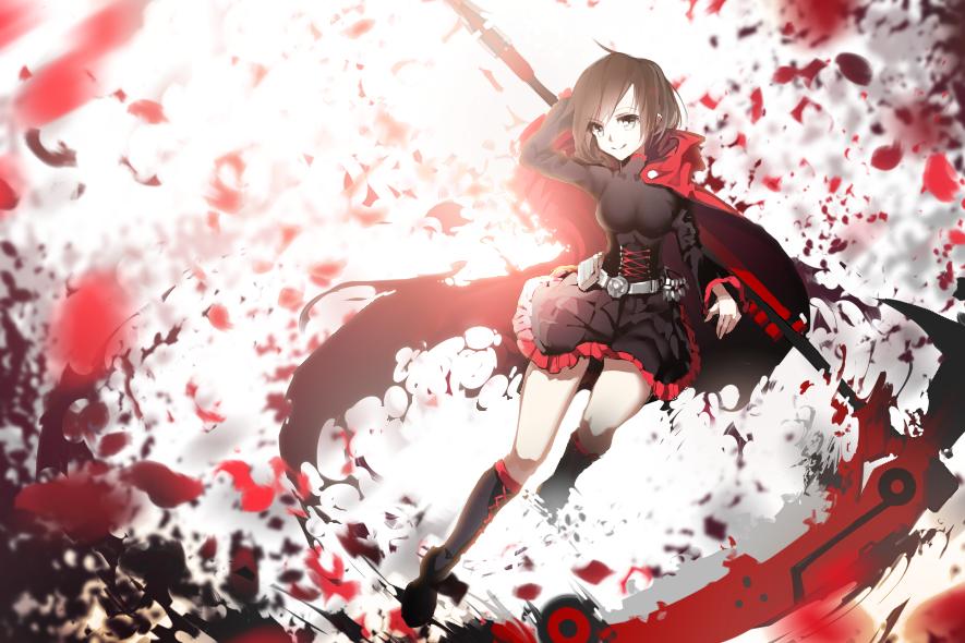 Красно черные картинки аниме