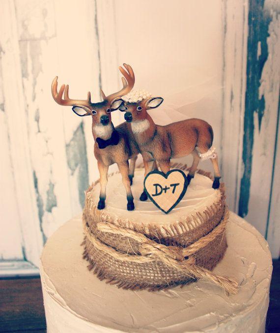 Buck Doe Wedding Cake Topper Bride And Groom Hunting