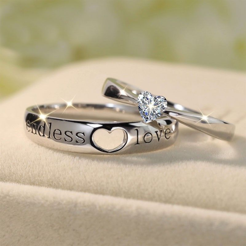 a3b6e280ab ... with cheap promise rings and birthstone rings for couples at Tinnivi  Jewelry. Buy Tinnivi 925 Sterling Silver Endless Love Heart Couples Rings  today, ...