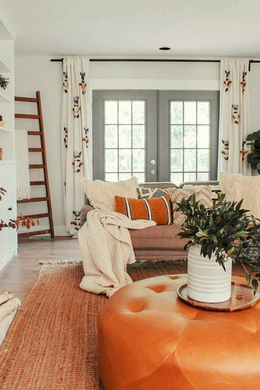 Best Modern Farmhouse Living Room Curtains Decor Ideas In