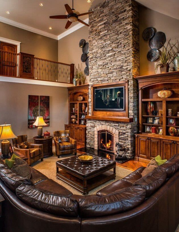 35 Rustic Living Room Ideas 2021 (Natural and Beautiful ...