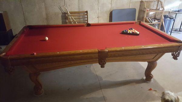 8u0027 Brunswick Billiards Pool Table