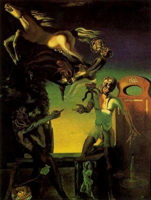 Guillermo Tell - Salvador Dalí - 1926. Óleo sobre lienzo. 22 x 15.6 cm. Propiedad particular.