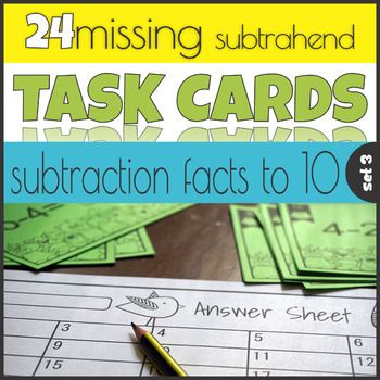 With these subtraction task cards it\'s easy to practice subtraction ...