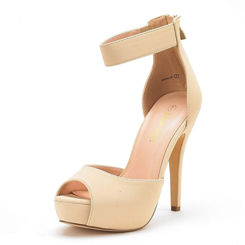 bf398f82da46 DREAM PAIRS Women s Swan-05 High Heel Plaform Dress Pump Shoes.Women s Shoes