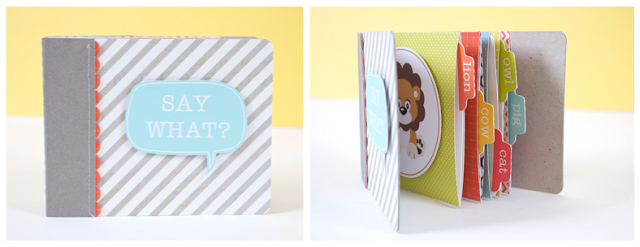 Cute pocket mini album / 'say what?' animal sounds book for kids