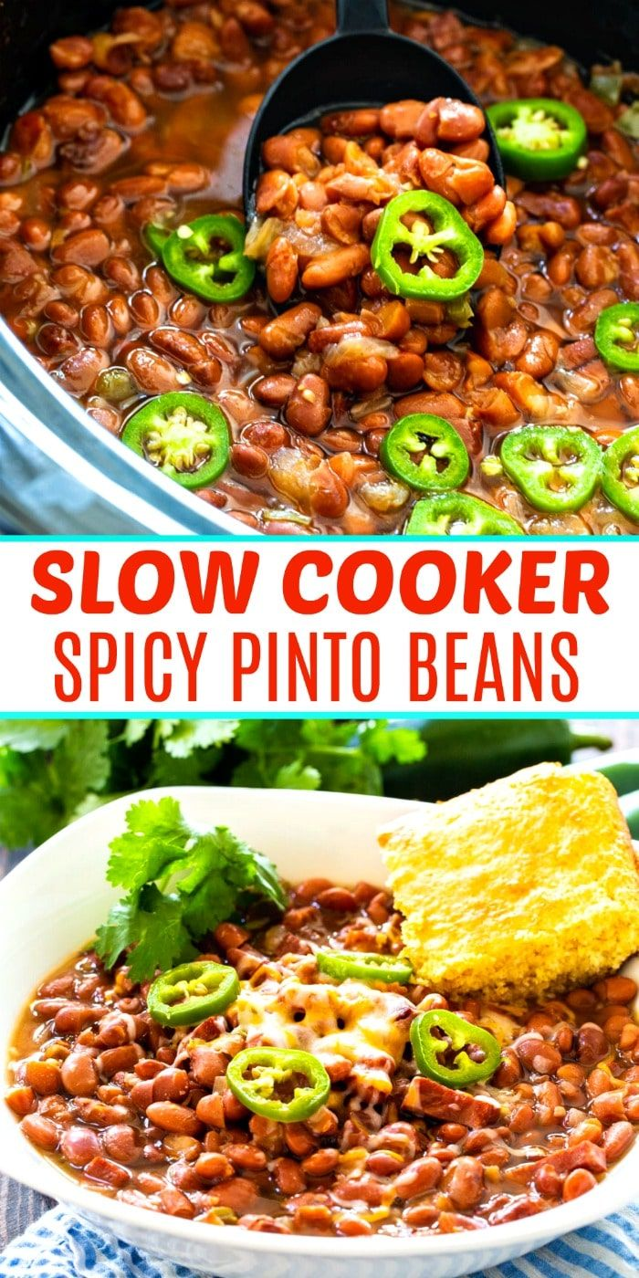 Photo of Slow Cooker Spicy Pinto Beans – Spicy Southern Kitchen
