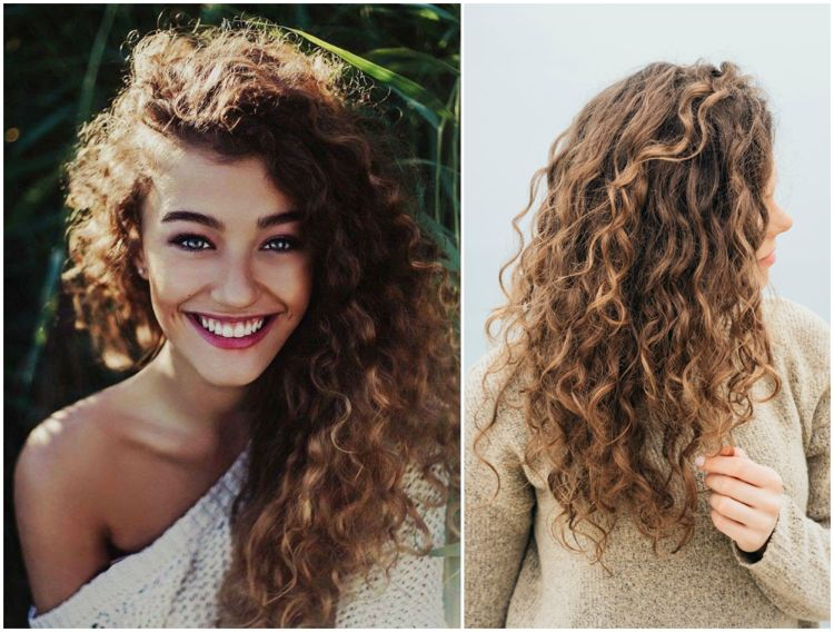 Naturlocken Lange Haare Stufenschnitt Hairstyles Hair Haare In