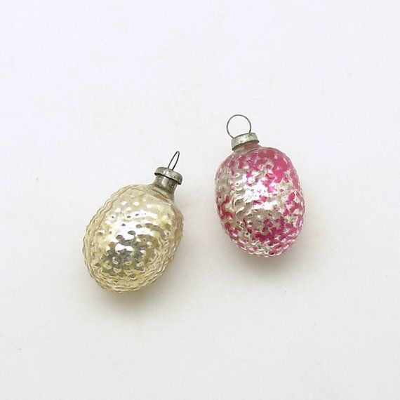 Vintage Christmas Ornaments Small Glass Ornament Feather Tree