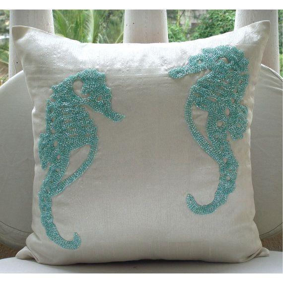Art Silk White Pillow Cover Cushion 16