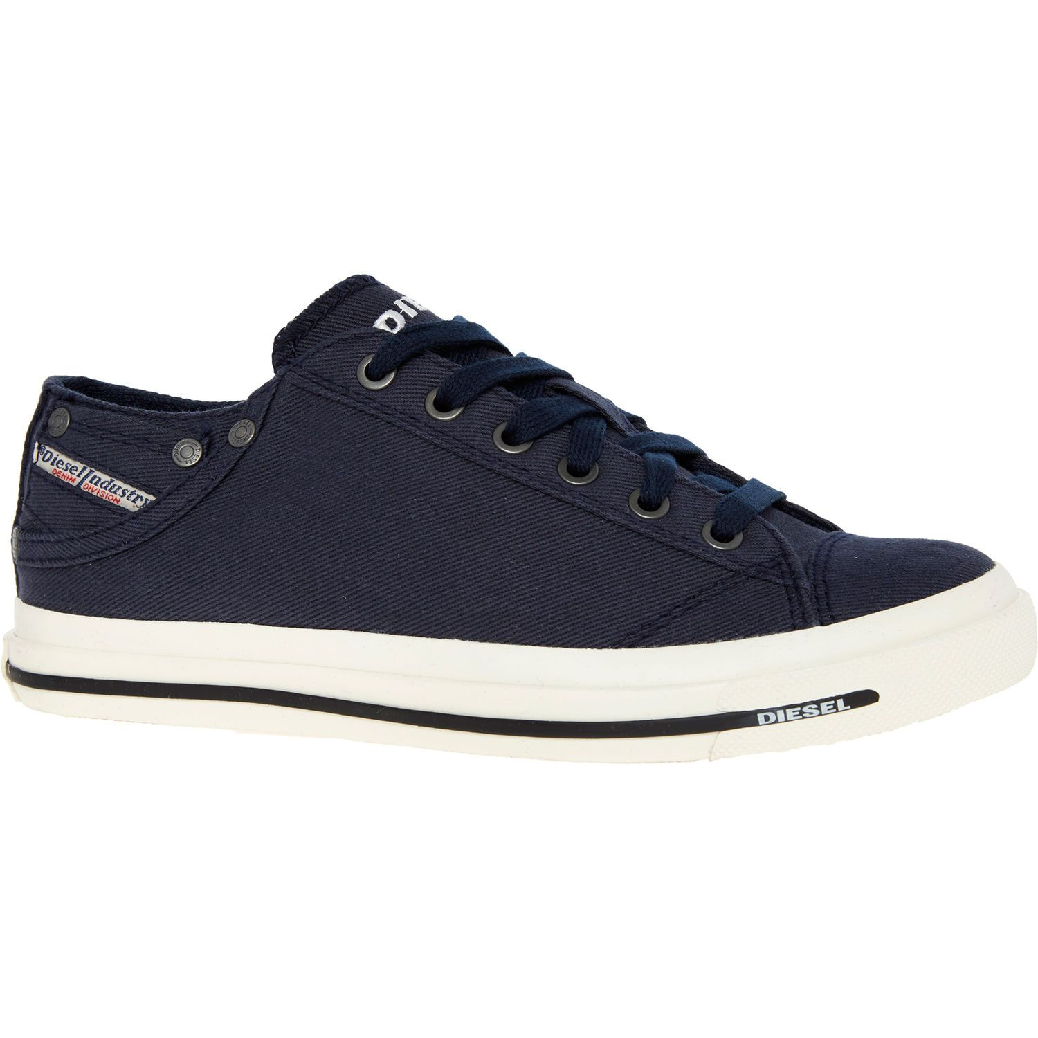 Navy Canvas Trainers - Trainers - Shoes