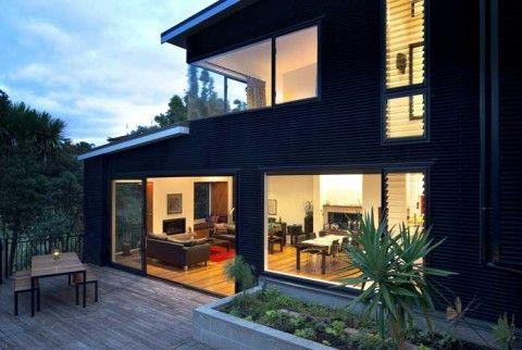 Modern corrugated iron cladded house | Likes & loves | Pinterest ...