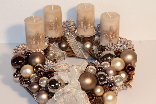 adventskranz creme sahara advent wreaths and. Black Bedroom Furniture Sets. Home Design Ideas