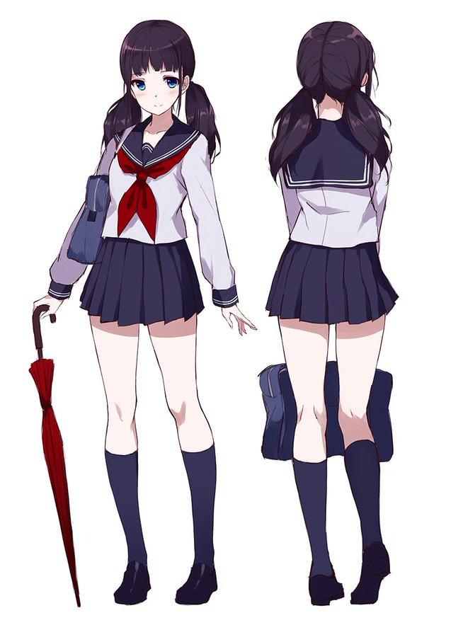Kd Chen Caidychenkd Twitter School Uniform Anime Anime School Girl Anime Uniform