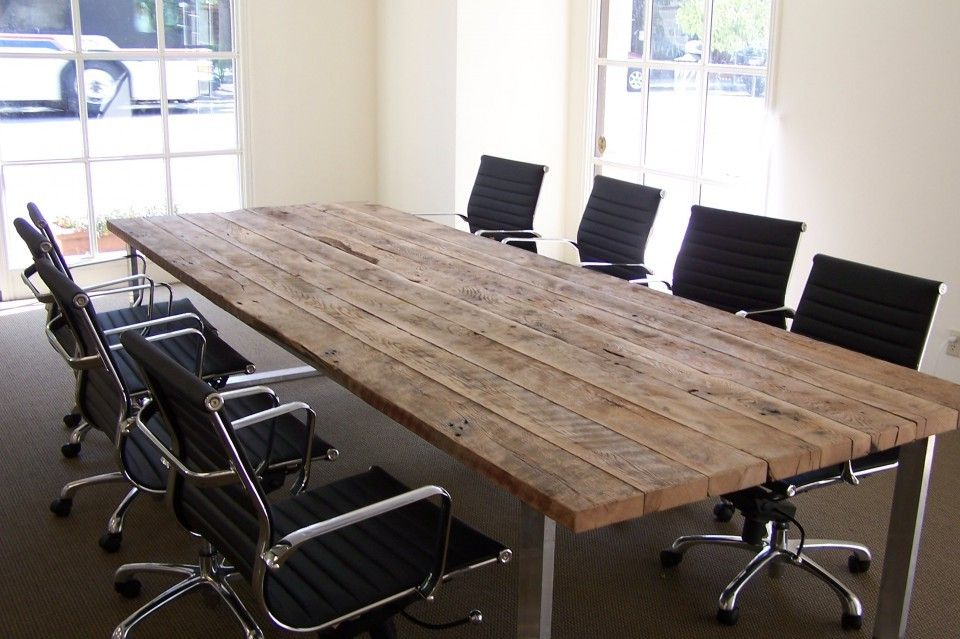 Reclaimed Wood Table Antique Oak Conference Table Blacks Farmwood - Antique conference table