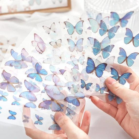 3 Butterfly Vinyl Stickers Holographic Sticker Pack