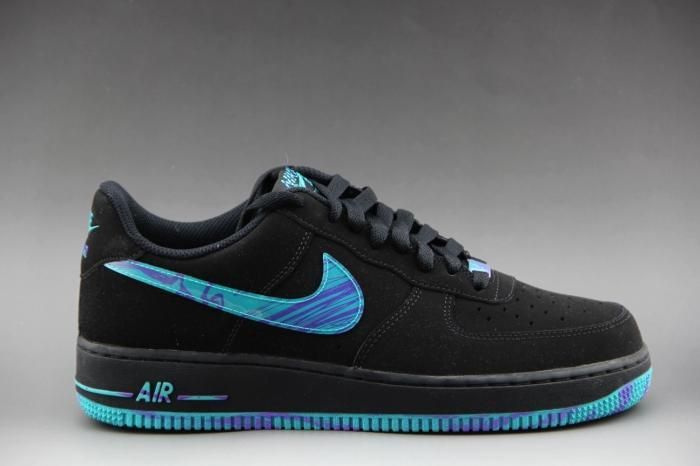 big sale 2d136 9a3d6 Nike Air Force Bajo Top Hombre Negro Azul