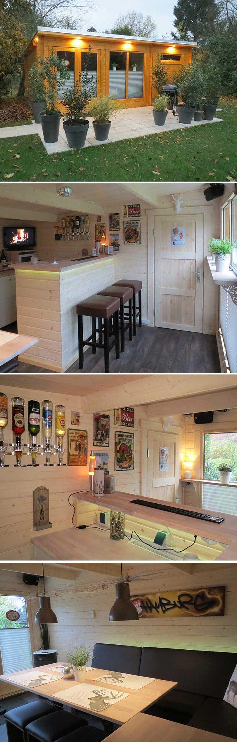 Das Gartenhaus mit Hausbar und Stammtisch | Saunas and House