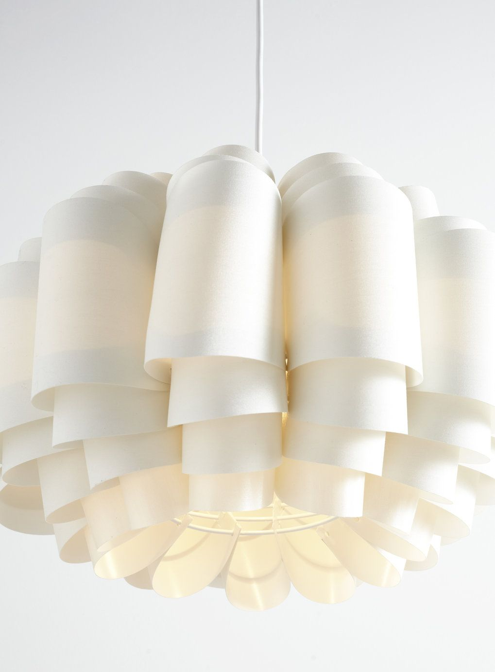 Photo 4 of White Large Sculpture Shade Easy to Fit Ceiling Light ...